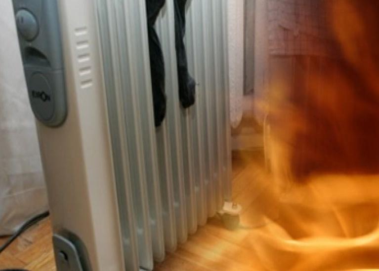 Обогреватель, оставленный без присмотра, может стать причиной пожара